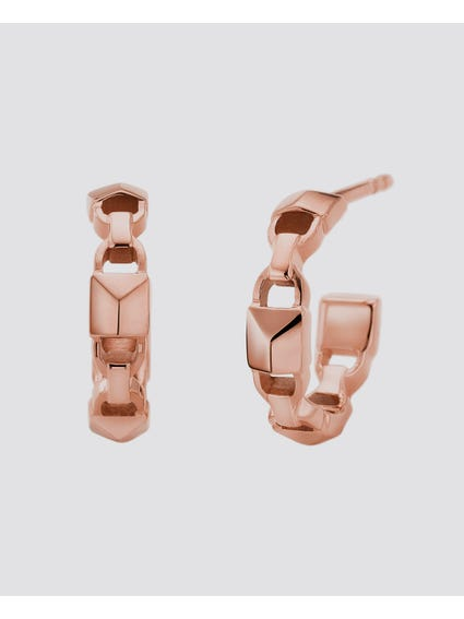 Rose Gold Mercer Link Earring
