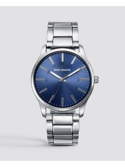 Stainless Steel Blue Dial Analog Watch