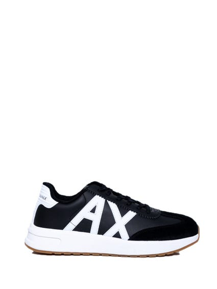 Black Lace Up A X Logo Sneakers