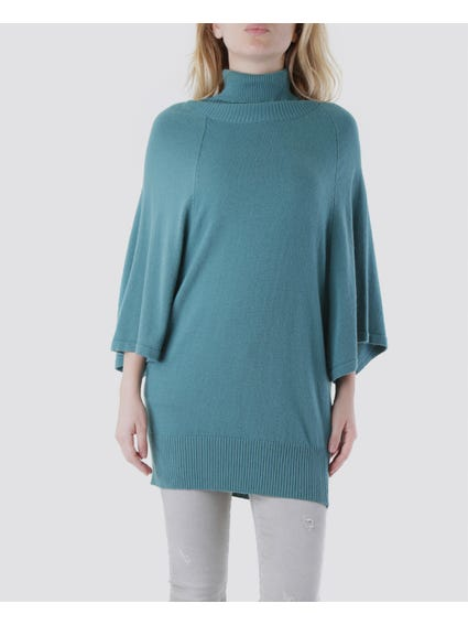 Turtleneck 3/4 Sleeves Top