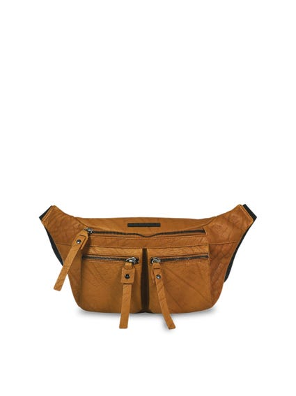 Leather Zipper Crossbody Bag