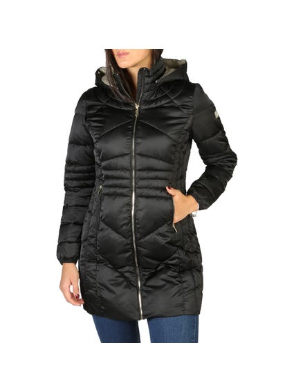 Black Zip Hooded Jacket