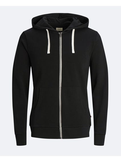 Black Hooded Full Zip Sweatshirts