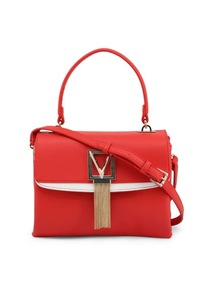 Red Satiro Single Handle Handbag