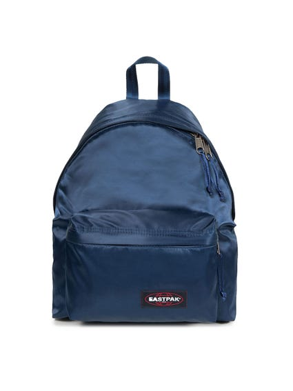 Blue Pocket Round Zip Backpack