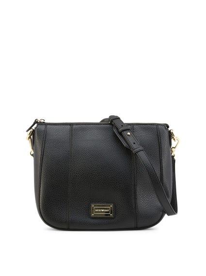 Zipper Leather Shoulder Bag