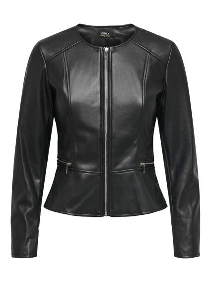 Leather Zip Up Jacket Blazer