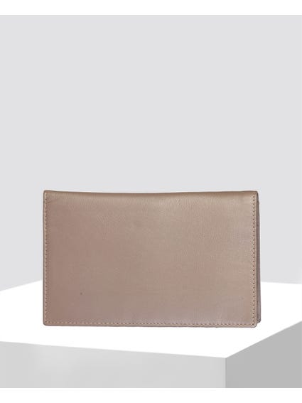 Pink Smooth Leather Wallet