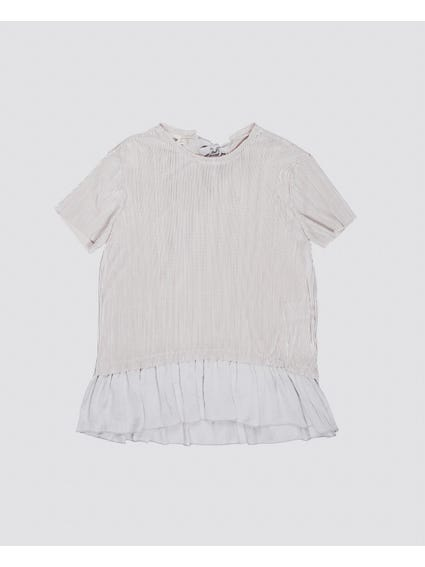 OffWhite Pleated Kids Blouse
