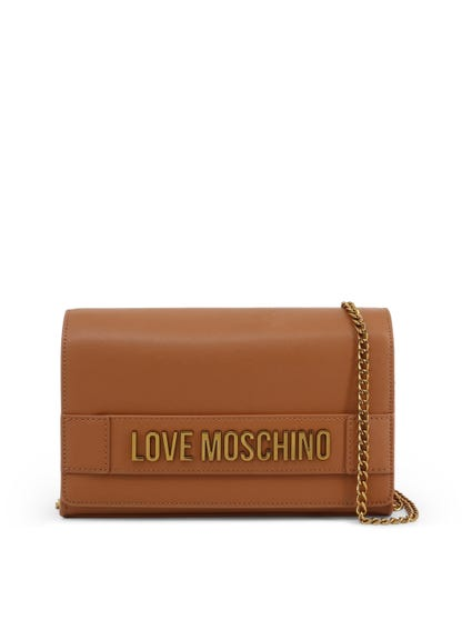 Brown Embellish Love Clutch Bag
