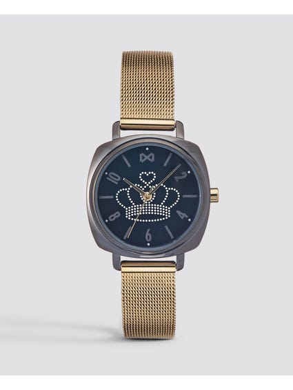 Gold Quartz Mesh Watch