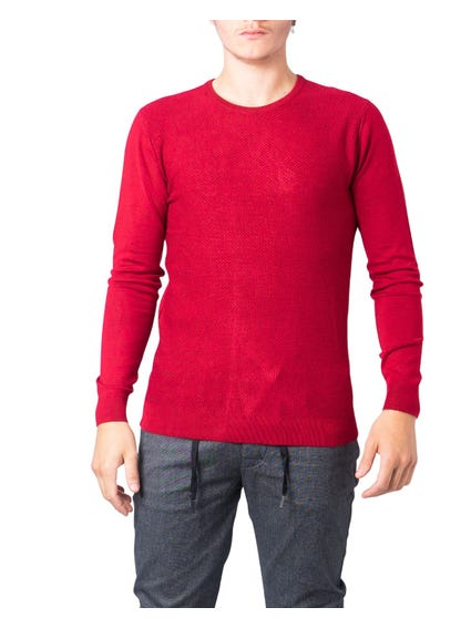 Red Round Neck Longsleeve Knitwear