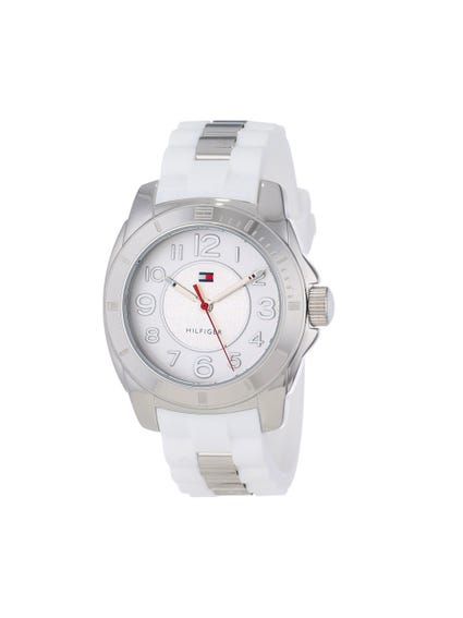 Silver Dial Analog Watch