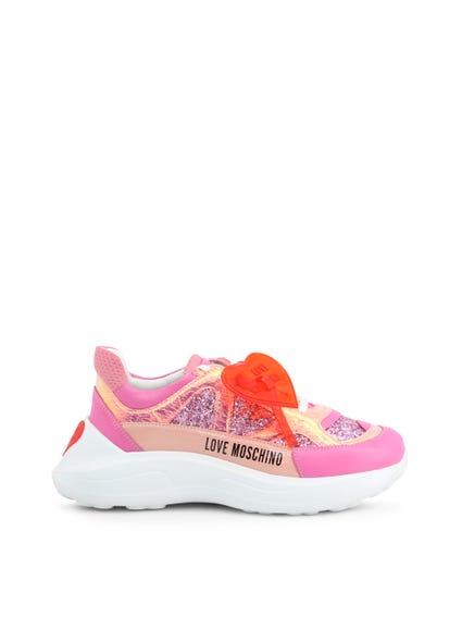 Pink Patent Chunky Sneakers