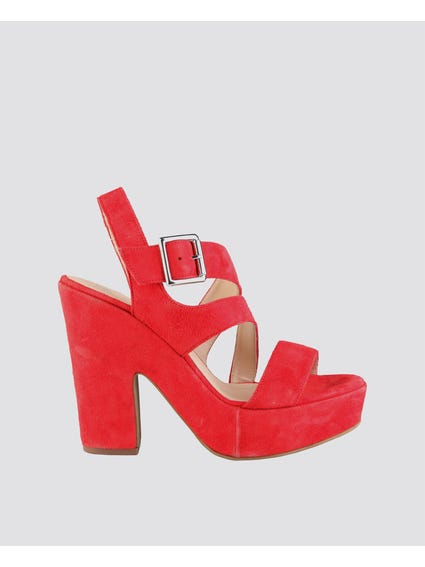 Red Olivia High Heel Sandals