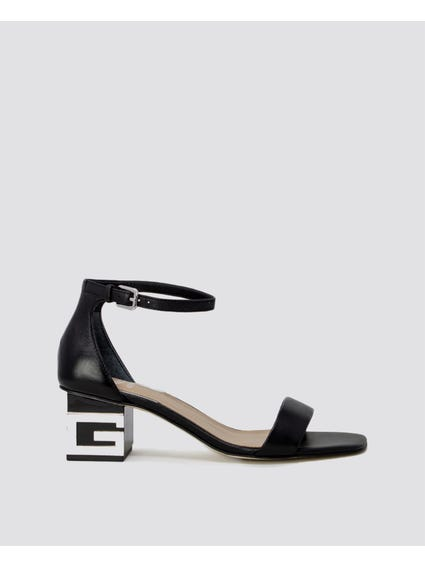 Logo Initial Ankle Strap Sandals