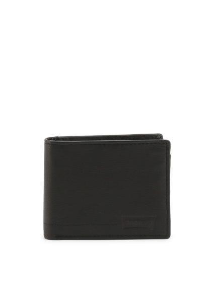 Black Berlino Leather Bi Fold Wallet