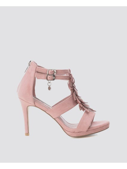 Nude Ankle Strap High Heel Sandals