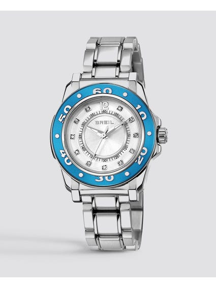 Blue Case Mantalite Analog Watch