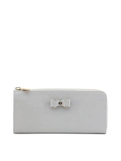 Grey Ribbon Zip Glenda Wallet