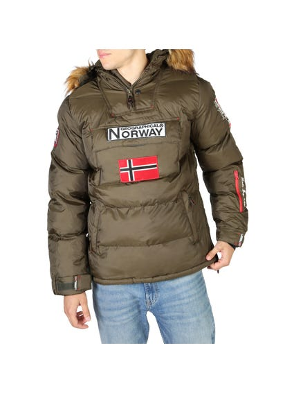 Brown Quilted Fur Collar Bomber