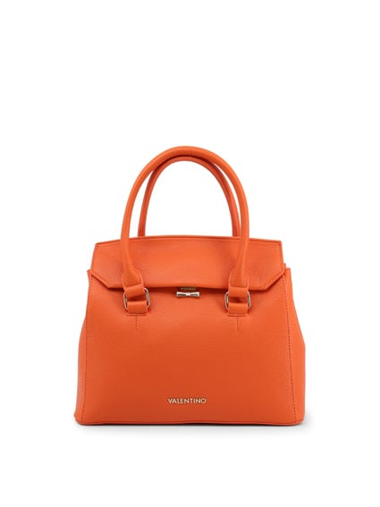Orange Metallic Clasp Shoulder Bag