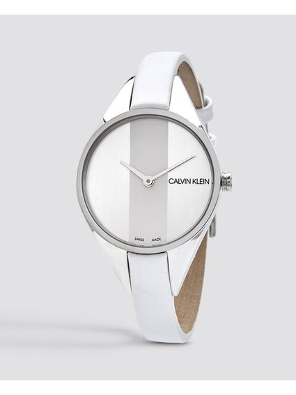 Rebel Quartz White and Silver Dial Watch