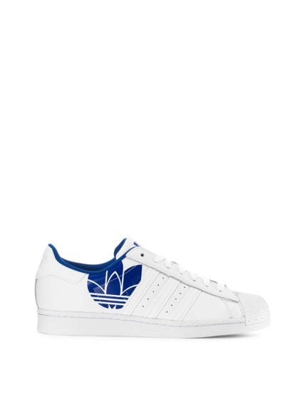 White Blue Superstar Sneakers