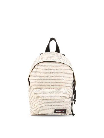 White Full Dots Zip Backpack