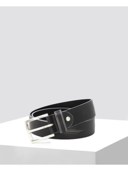 Black Leather Adjstable Belt