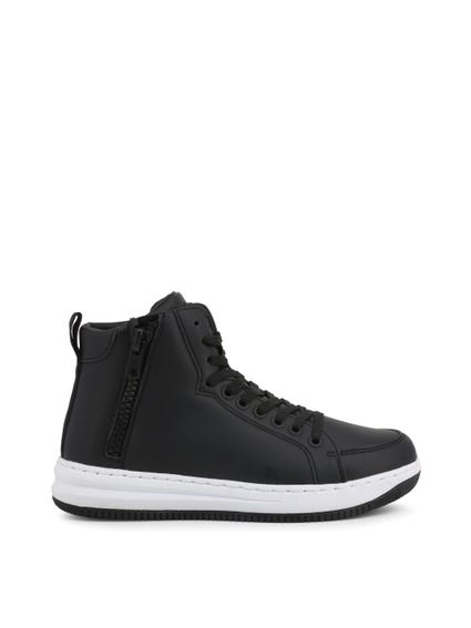Hi Top Side Zip Sneakers