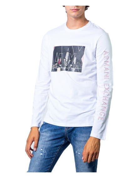 White Long  Sleeve Graphic Print T-shirt