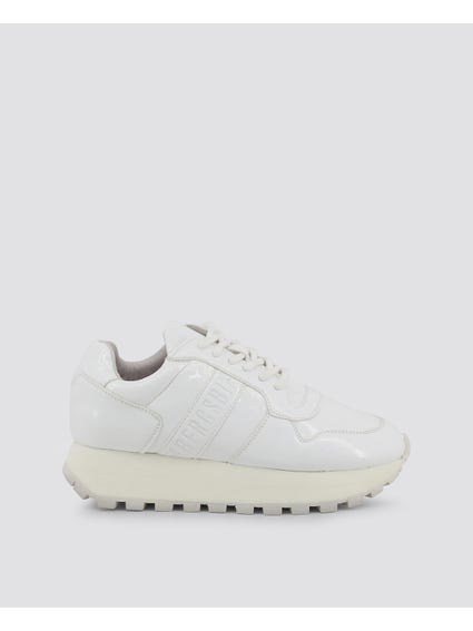 White Patent Fender Sneakers