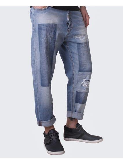 Dim Print Loose Fit Jeans