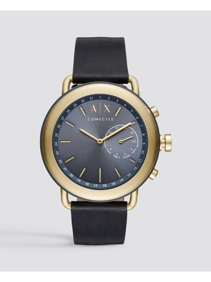 Blue Hybrid Leather Watch
