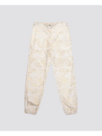 Gold Splat Print Kids Trouser