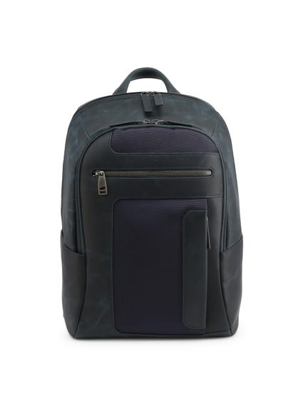 Blue Multiple Zip Back Pack