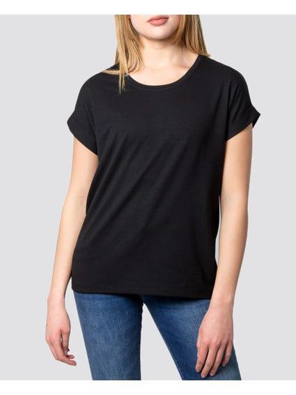 Black Casual Plain T-Shirt
