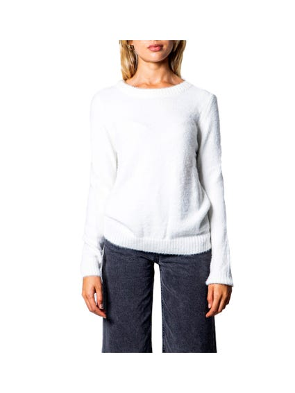 White Plain Long  Sleeve Knitwear