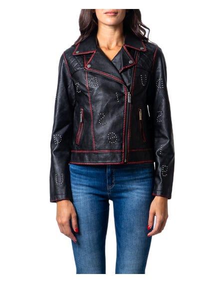 Long Sleeve Leather Jacket Blazer