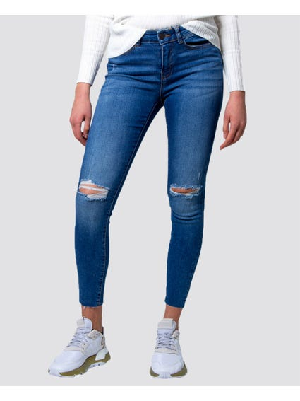 Lucy Distressed Skinny Jeans