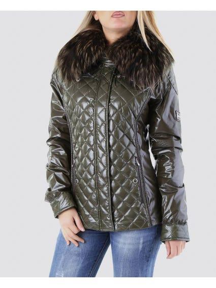 Green Fur Collar Jacket