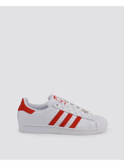 Red Stripe Superstar Sneakers