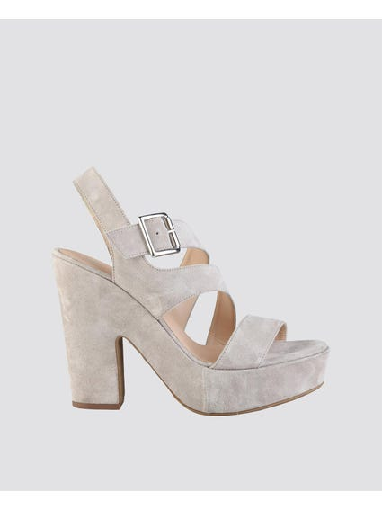 Cream Olivia High Heel Sandals