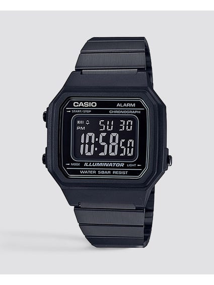 Black Plated Digital Watch
