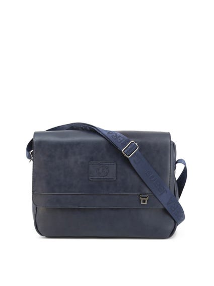 Blue Dave Leather Zip Briefcase