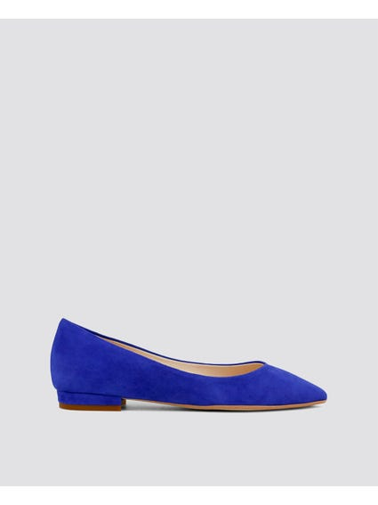 Blue Mare-mare Flat Shoes