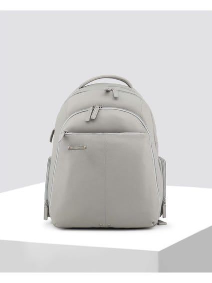 Grey Metal Logo Backpack