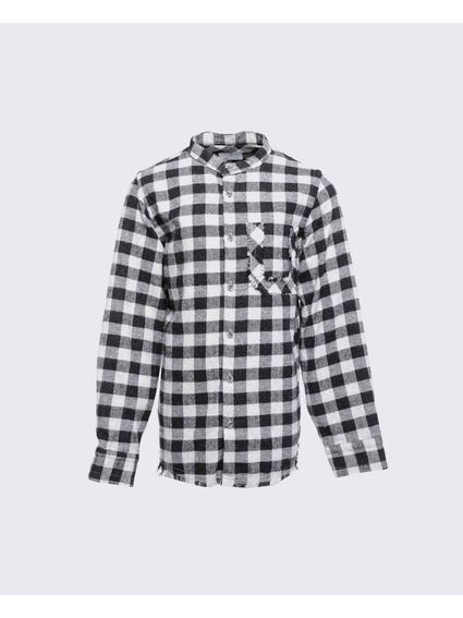 Back Print Checkered Kids Shirt