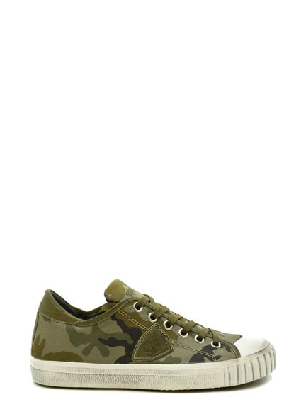 Camouflage Print Lace Up Sneakers